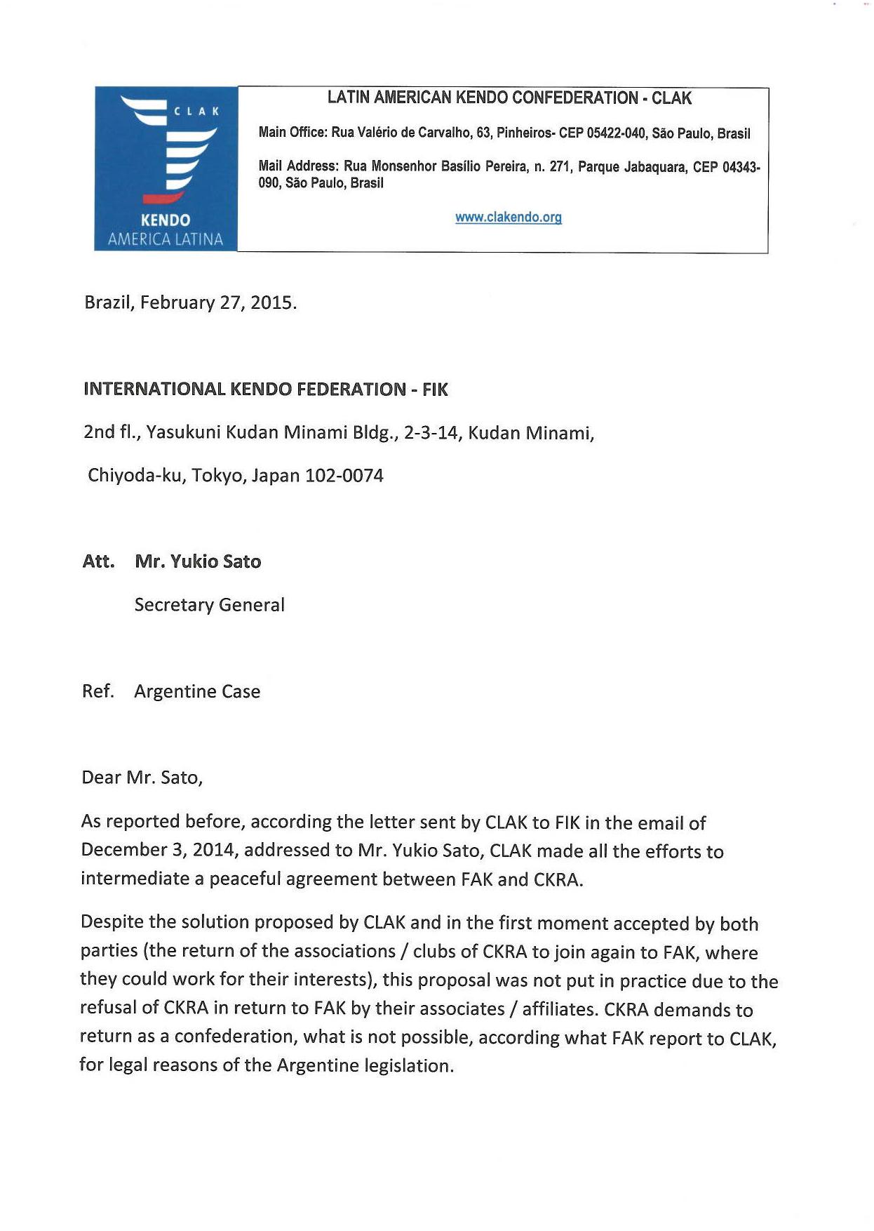 Carta de CLAK a FIK (Pag 01)