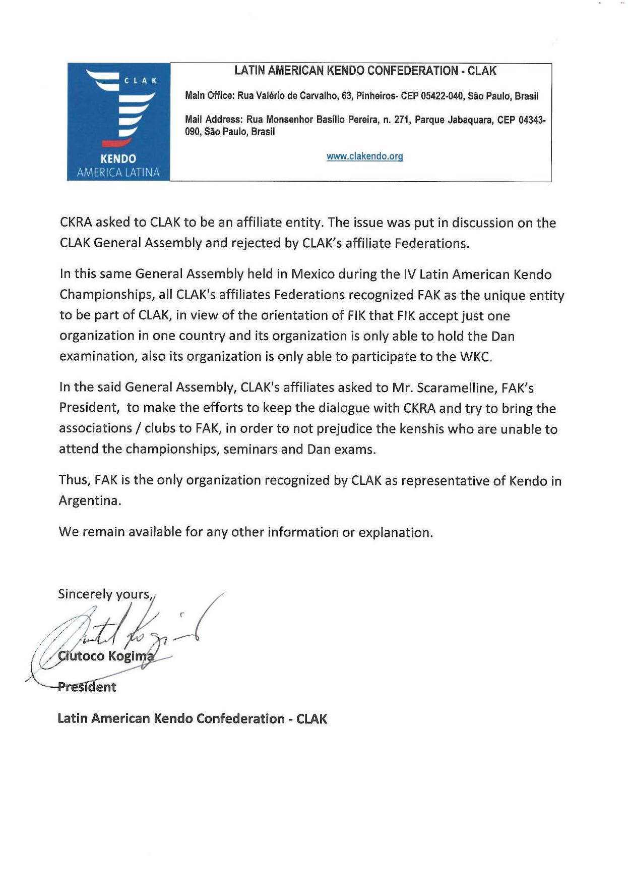 Carta de CLAK a FIK (Pag 02)