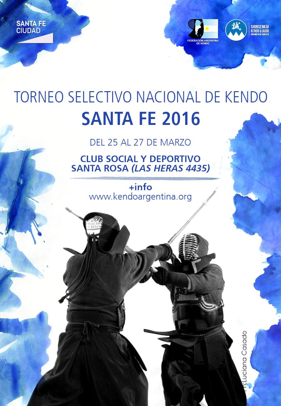 Torneo Selectivo Nacional de Kendo 2016 - Afiche