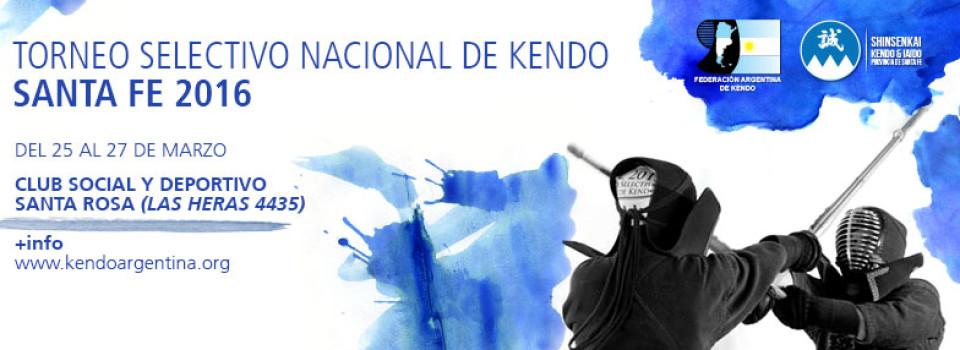 Torneo Selectivo Nacional de Kendo 2016 - Header