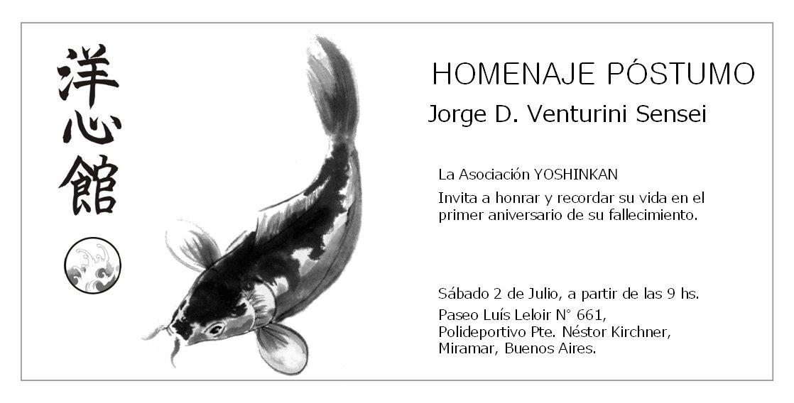 Homenaje Venturini Sensei - Tarjeta Invitación