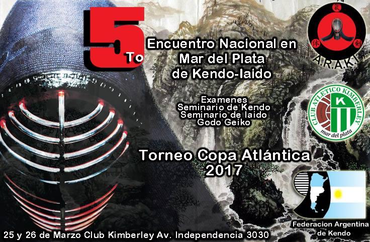 Volante - 5º Encuentro Nacional de Kendo, Mar del Plata 2017